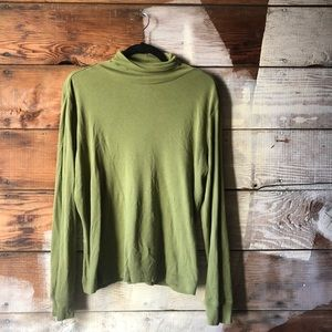 Eddie Bauer L Moss Green Turtle Neck Long Sleeve